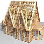 деревянные конструкции в лапу в чашку перекрытия балки лаги стропильная система материал древесина  сруб панель брусовой блок каркас щит